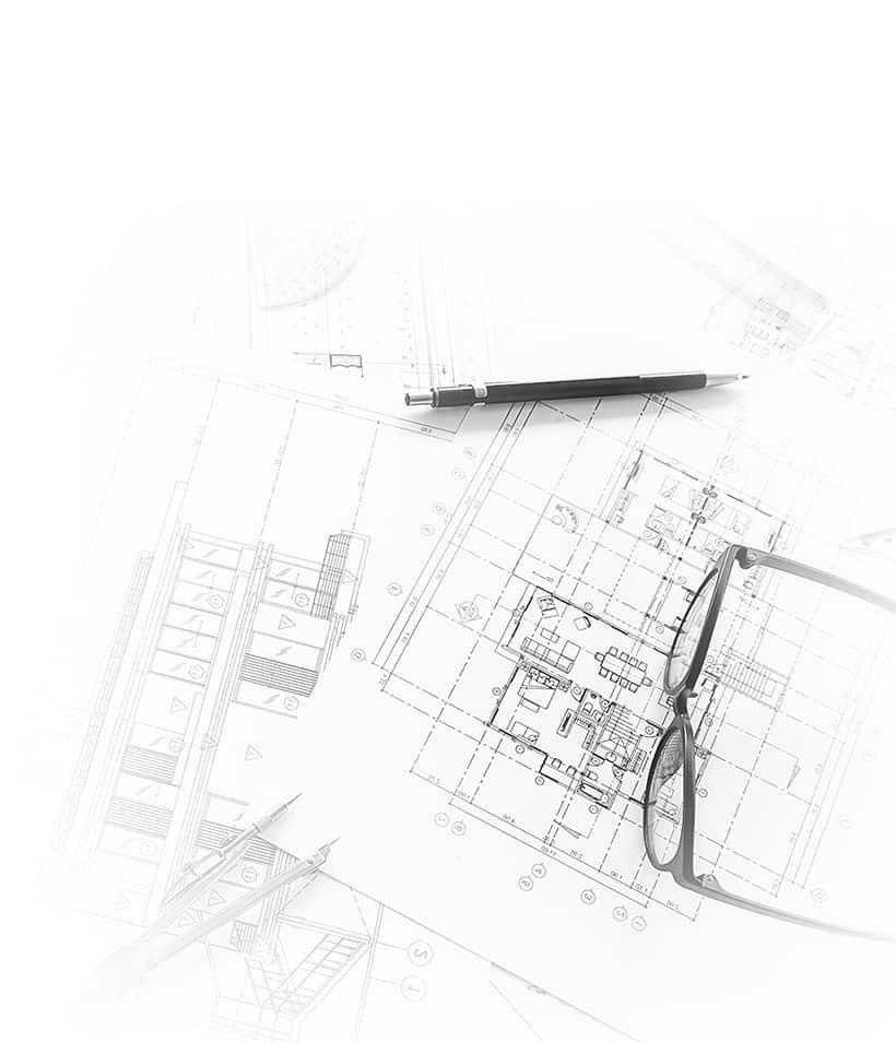 Plan architecture d'une maison