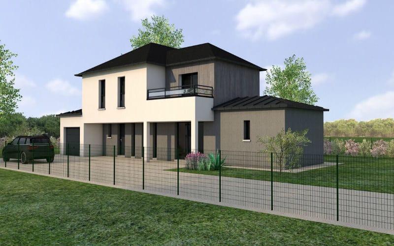 Projet de construction de maison design - damien vue 2