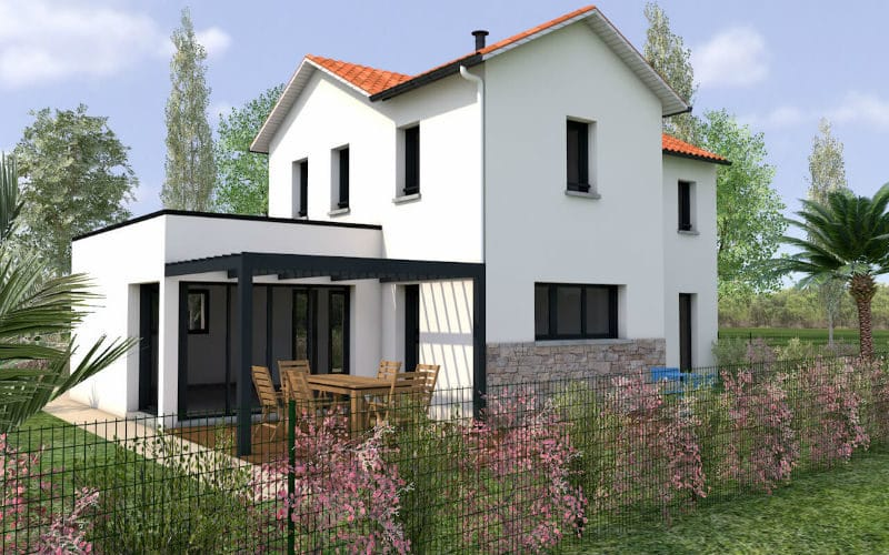Maison moderne monopente gourrier vue 2
