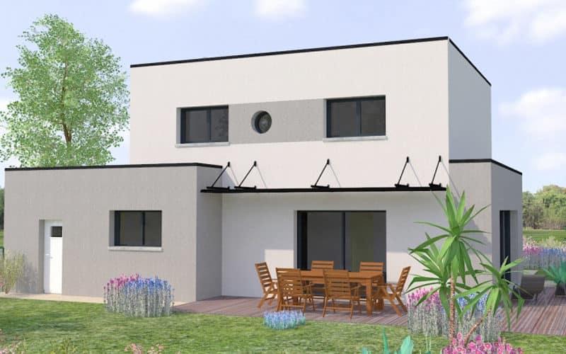 Toit de maison contemporaine plat projet 2