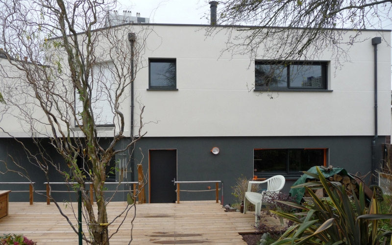 Maison moderne a Rennes vue 2