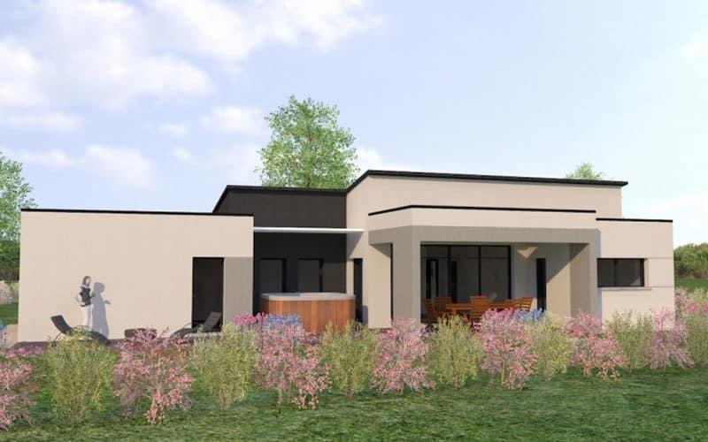 Projet de maison plain pied avec toit plat