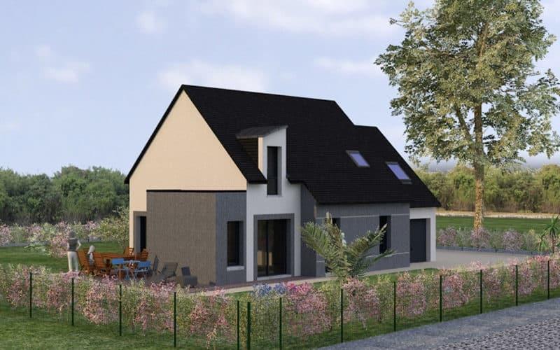 projet de maison moderne et traditionnelle vue 2
