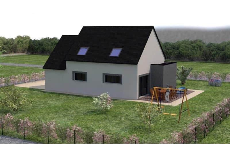 projet de maison moderne et traditionnelle