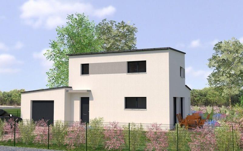 Maison moderne monopente grand garage