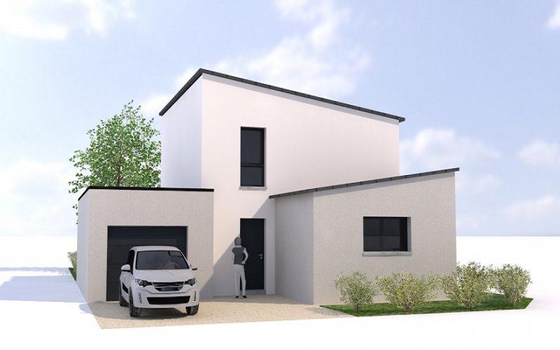 maison moderne toiture monopente