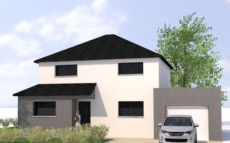 plan maisons 4 pans