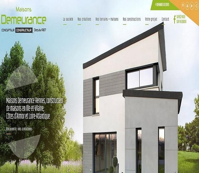 nouveau site internet maisons demeurance