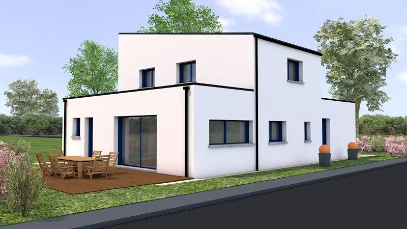 constructeur maison loire atlantique reze etage moderne