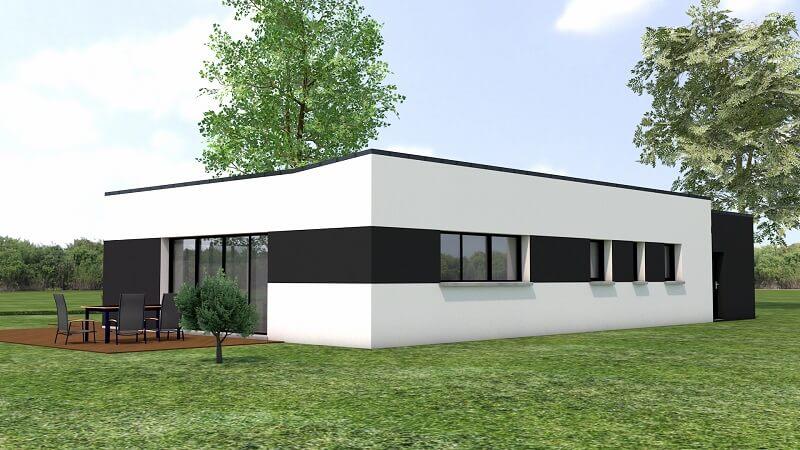 loire atlantique maison contemporaine moderne loire atlantique orvault plain pied deux