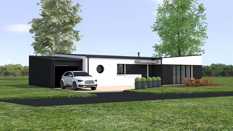 loire atlantique maison contemporaine moderne loire atlantique orvault plain pied