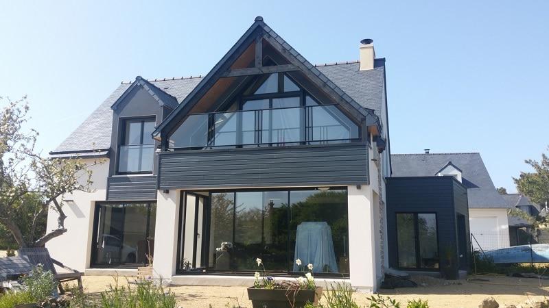 maison contemporaine loire atlantique etage carquefou deux