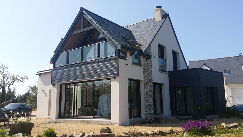 maison contemporaine loire atlantique etage carquefou