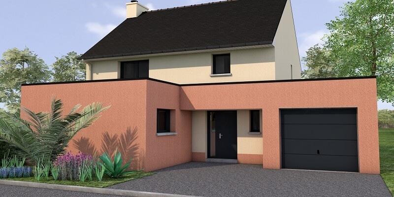 Maison avec toit plat a cancale vue 2