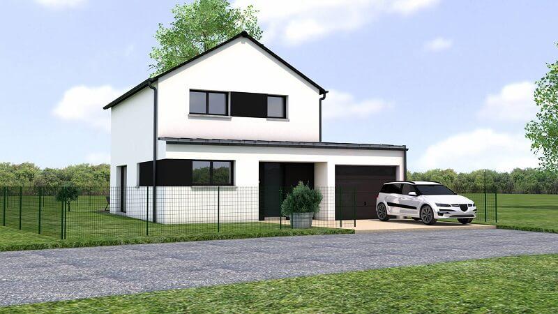 constructeur loire atlantique reze 44 maison contemporaine etage