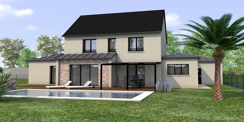 Projet de maison contemporaine la Richardais