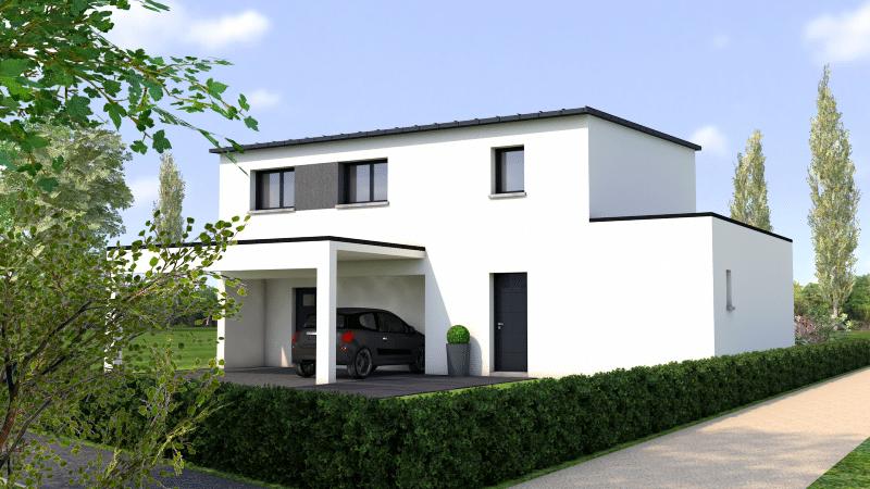 Maison contemporaine monopente avec zinc