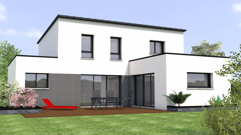 contemporaine toit monopente zinc