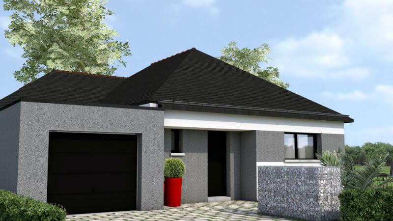 plain pied contemporain Taden