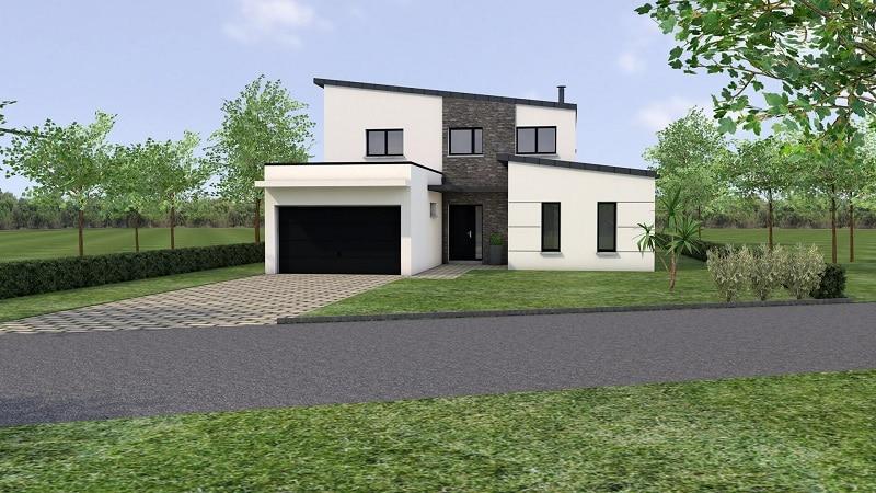 Projet de Maison moderne avec étage en loire atlantique vue2