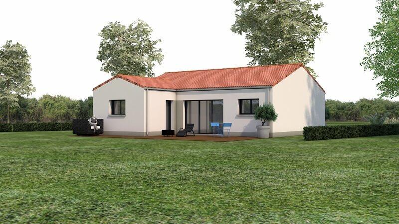 Maison traditionnelle avec toit en tuile loire atlantique vue 3