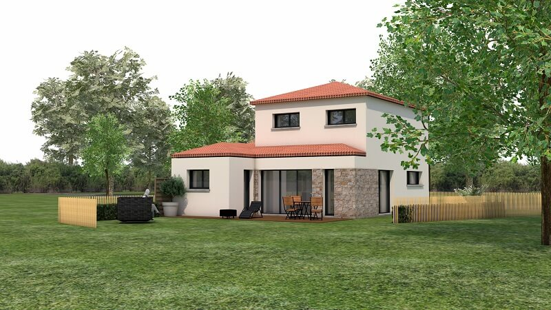 Maison traditionnelle avec toit en tuile loire atlantique