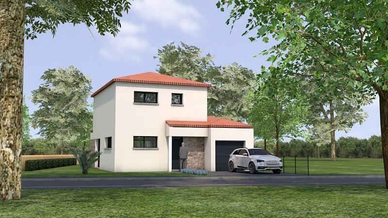 Maison traditionnelle avec toit en tuile loire atlantique vue 2