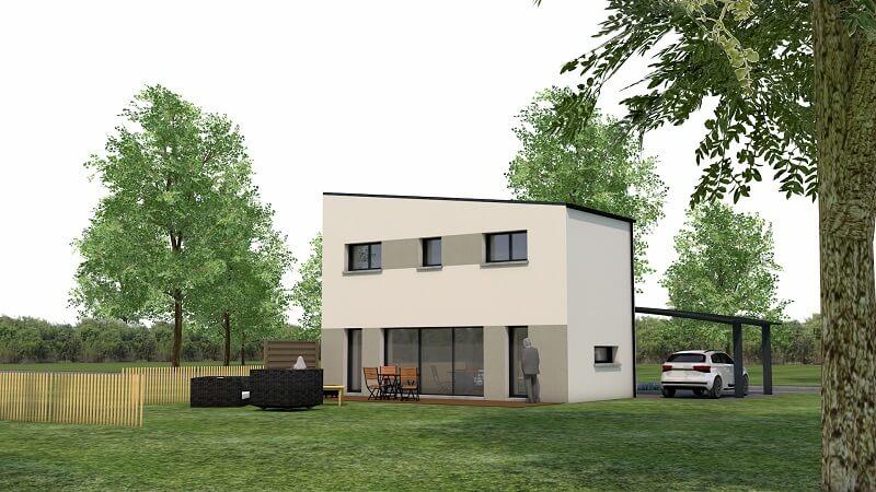 Maison moderne et contemporaine avec étage