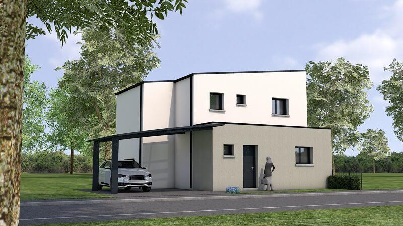 Maison moderne et contemporaine avec étage en loire atlantique